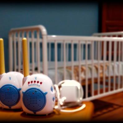 Casa Rural Villa Aurora Habitación azul intercomunicador bebe